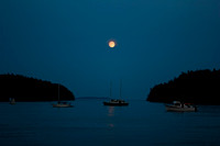 Moonrise on Echo Bay, Sucia Island San Juan  WA