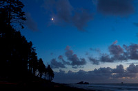 Moon Rise on Ruby Beach WA 11.11.10